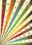 Bandeira multicolor retro do grunge ilustração royalty free