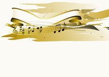 Bandeira musical Imagens de Stock