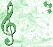 Bandeira musical irlandesa ilustração do vetor