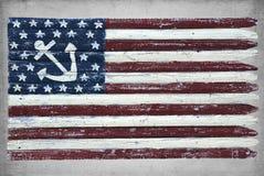 Bandeira náutica pintada Imagem de Stock Royalty Free