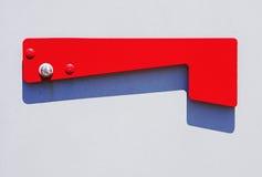 Bandeira na caixa postal Fotos de Stock Royalty Free