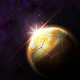 Bandeira na ilustração do futebol 3d Imagem de Stock