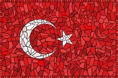 Bandeira nacional creativa de TURQUIA Fotos de Stock Royalty Free
