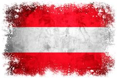 Bandeira nacional de Áustria Imagens de Stock Royalty Free