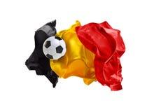 A bandeira nacional de Bélgica Campeonato do mundo de FIFA Rússia 2018 Imagens de Stock