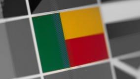 Bandeira nacional de Benin do país Bandeira de Benin na exposição, um efeito de ondeamento digital imagem de stock