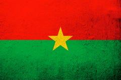 Bandeira nacional de Burkina Faso Fundo do Grunge imagem de stock