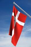 Bandeira nacional de Dinamarca ilustração do vetor