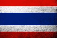 A bandeira nacional de Kingdom of Thailand Fundo do Grunge fotografia de stock royalty free