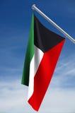 Bandeira nacional de Kuwait Imagem de Stock