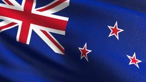 Bandeira nacional de Nova Zelândia que funde no vento isolada Projeto abstrato patriótico oficial ilustração da rendição 3D da on ilustração do vetor