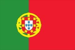 Bandeira nacional de Portugal Fotografia de Stock Royalty Free