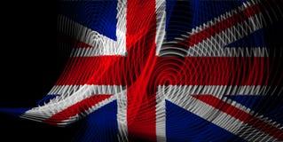 A bandeira nacional de Reino Unido ilustração stock