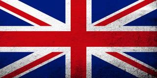Bandeira nacional de Reino Unido Grâ Bretanha 'Union Jack 'ou 'bandeira de união ' Fundo do Grunge ilustração stock