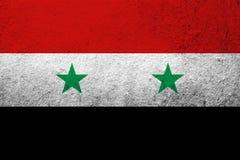 A bandeira nacional de república árabe síria Fundo do Grunge foto de stock royalty free