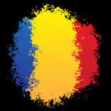 Bandeira nacional de Roménia Imagens de Stock