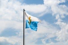Bandeira nacional de San Marino Fotos de Stock Royalty Free