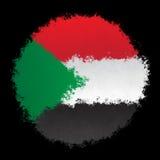 Bandeira nacional de Sudão Fotografia de Stock Royalty Free