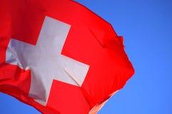 Bandeira nacional de Switzerland Fotos de Stock