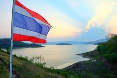 A bandeira nacional de Tailândia Fotografia de Stock Royalty Free