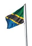 Bandeira nacional de Tanzânia Fotografia de Stock Royalty Free