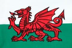 Bandeira nacional de Wales Foto de Stock