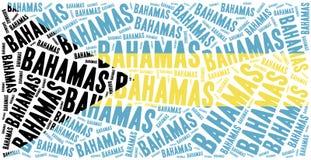 Bandeira nacional do Bahamas Uma COMUNICAÇÃO Imagem de Stock Royalty Free
