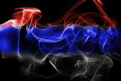 Bandeira nacional do fumo da Sérvia fotos de stock