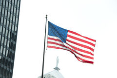 Bandeira nacional dos E.U. Fotos de Stock Royalty Free