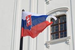 Bandeira nacional eslovaca Imagem de Stock