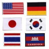 Bandeira nacional, feita tela tecida ââof Imagem de Stock