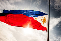 Bandeira nacional filipino imagem de stock royalty free