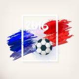 Bandeira nacional francesa Euro 2016 Fotos de Stock