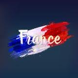 Bandeira nacional francesa Euro 2016 Foto de Stock Royalty Free