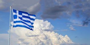 Bandeira nacional grega Imagem de Stock
