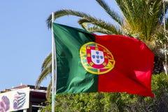 A bandeira nacional portuguesa colorida fotos de stock