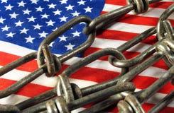 Bandeira nas correntes Imagem de Stock Royalty Free