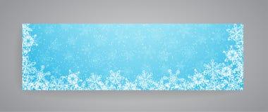 Bandeira nevado do inverno com flocos de neve Vetor eps10 Imagens de Stock
