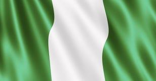 Bandeira nigeriana Imagem de Stock