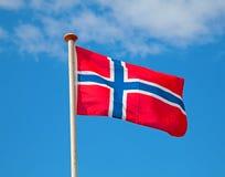 Bandeira no céu Fotos de Stock