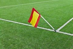 Bandeira no campo do rugby Imagem de Stock Royalty Free