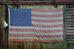 Bandeira no celeiro imagens de stock
