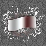 Bandeira no papel de parede Foto de Stock Royalty Free
