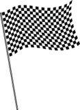 Bandeira no revestimento. ilustração stock