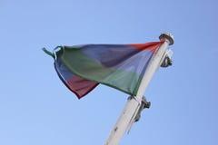 Bandeira no vento Fotos de Stock