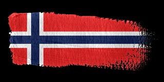Bandeira Noruega do Brushstroke ilustração stock