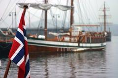 Bandeira norueguesa Fotografia de Stock Royalty Free