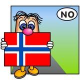 A bandeira norueguesa Foto de Stock Royalty Free