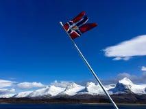 A bandeira norueguesa Imagens de Stock Royalty Free