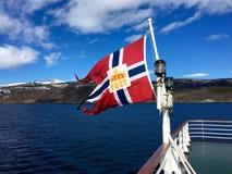 A bandeira norueguesa Fotografia de Stock